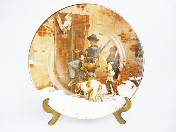 Vintage Huntsman & Youth G Buadrone Barratts Staffordshire Collectors Plate
