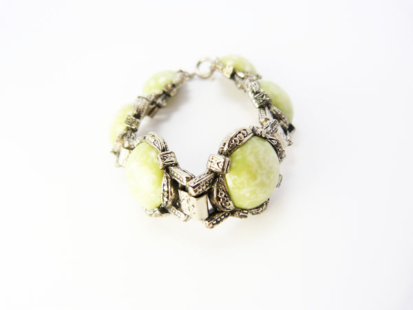 Scottish Celtic Green Agate Bracelet