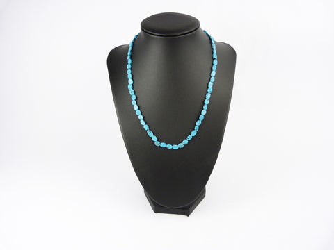 Vintage Turquoise Howlite Bead Necklace