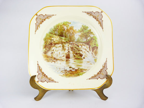 Woods Ivory Ware England Scotch Waterfall Stichill Linn Collectors Plate