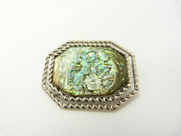 Vintage Abalone Shell Brooch