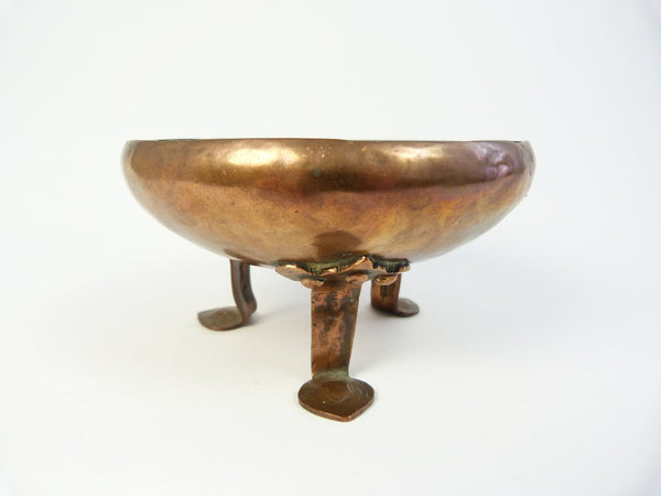 Arts and Crafts Copper Three Footed Bowl