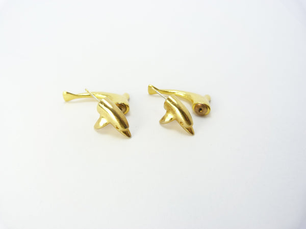 Gold Tone Dolphin Earrings