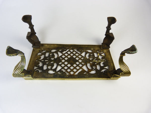 Antique Archibald Kenrick & Sons Brass Trivet, East Or West Hame's Best