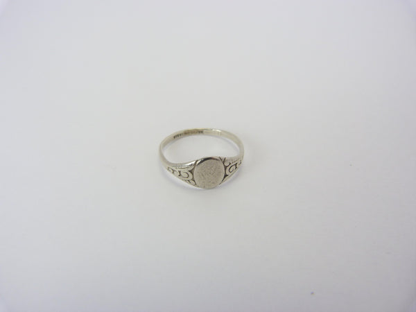 Sterling Silver Signet Ring Size N 1/2