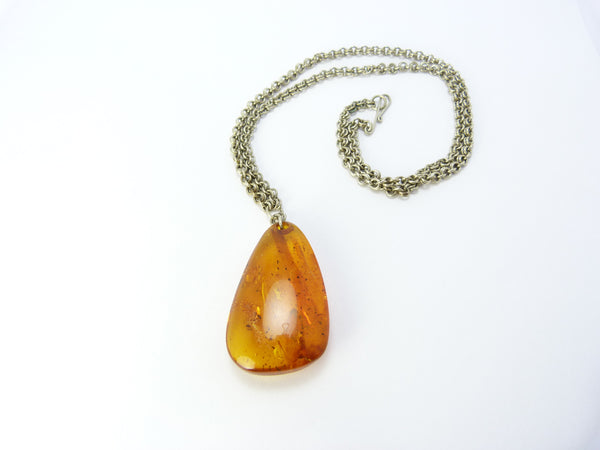 Vintage Baltic Amber Pendant/Necklace