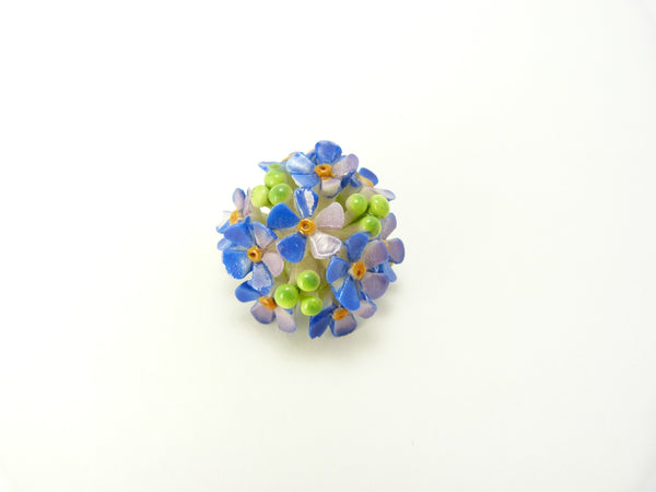 Bone China Forget Me Not Brooch