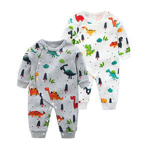 f5d7b0fcab5 Newborn Long Sleeve Pajamas with Dinosaur Prints