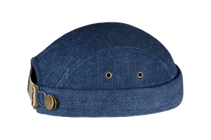 Miki breton bleu, jean, modèle limité, 100% coton, Miaraka, réglable, adaptable, unisexe, uniforme, 5 panel, authentique, vintage, éthique, docker miki, worker hat, textile, denim, résistant, miki uni jean, fait à la main, made in France, must have, incontournable, tendance, couvre chef, accessoire iconique, chapellerie unique, fashion, streetwear, casual, miki addict, sneaker addict, collection, haut de gamme, environnement, marins, résistant, surecyclage, bonnet, modèle de créateur déposé