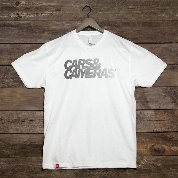 Cars & Cameras Fade T-Shirt (White)