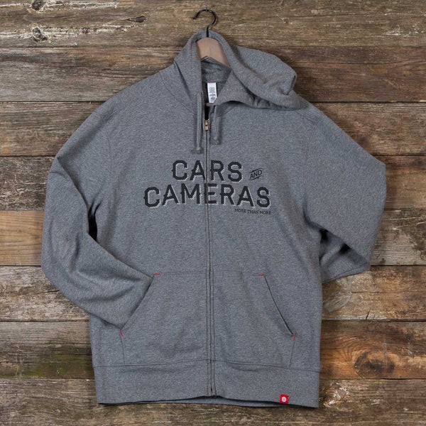 Cars & Cameras Fleece Zip Hoodie (Deep Heather)
