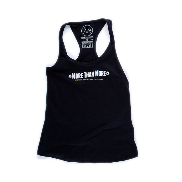 Explore Ladies Racerback Tank (Black/White, Grey, Gold)