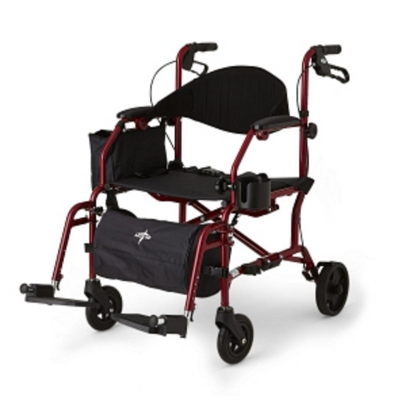Transport Chair and Rollator Hybrid