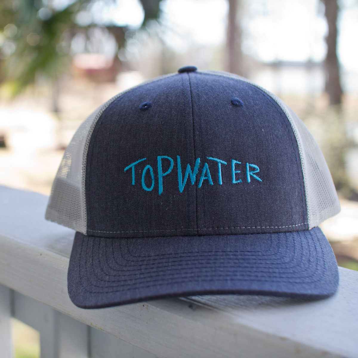 Topwater Text Cap Heather Navy