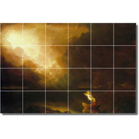 "Ceramic Tile Mural-Thomas Cole Landscapes Painting 489. 72"" w x 48"" h using (24) 12 x 12 ceramic tiles"