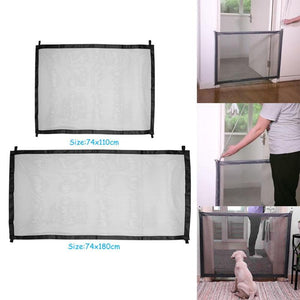 Dog Fences Mesh Magic Gate Pet Door Gate For Dogs Safe Guard and Install  Pet Gate Dog Safety Enclosure - Gadget Cadeau