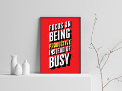 Focus on Being Productive - The Scribes