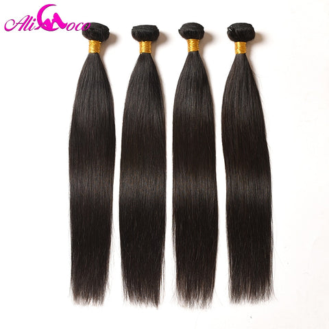 Brazilian Straight Hair, 4 Bundles.