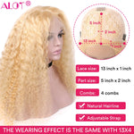 Blonde Lace Front Wig.