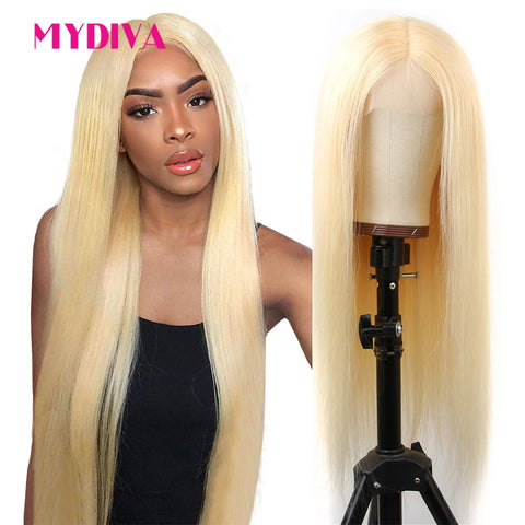 Blonde Lace Front Human Hair Wig.