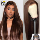 Straight Brown Peruvian Wig.