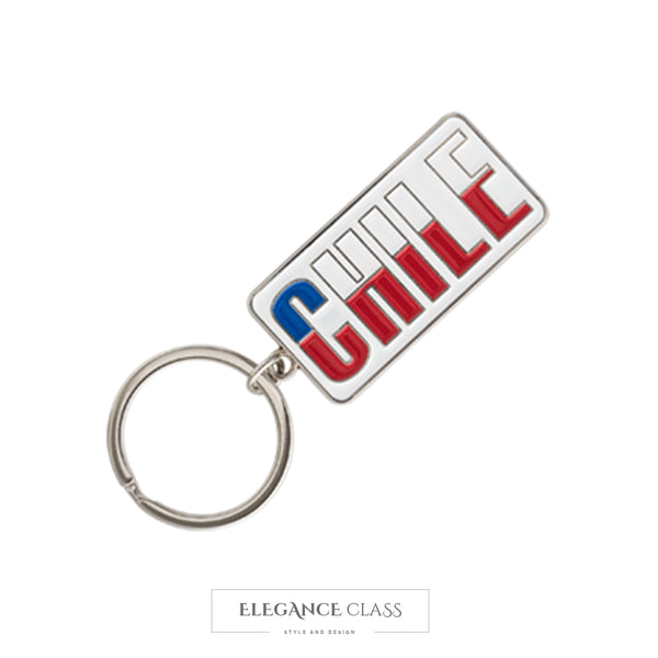 Llavero Metal Chile Plata