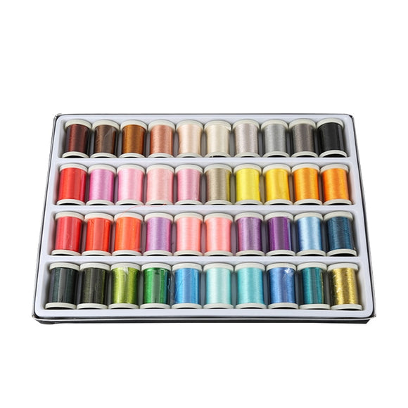 40 Colors Machine Embroidery Thread - 300 Yard/Spool - Adorable Click