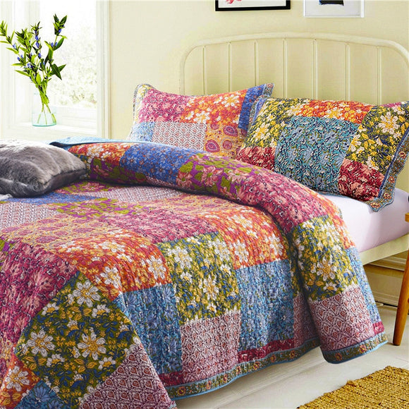 Antique Patchwork Quilted Bedspread