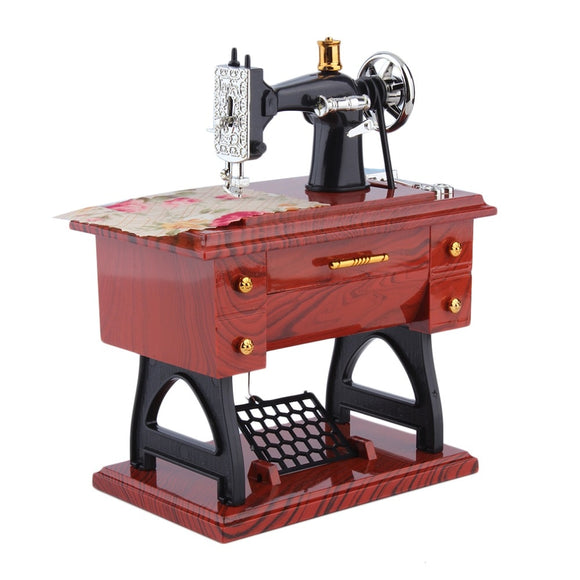Mini Retro Sewing Machine and Music Box - Adorable Click