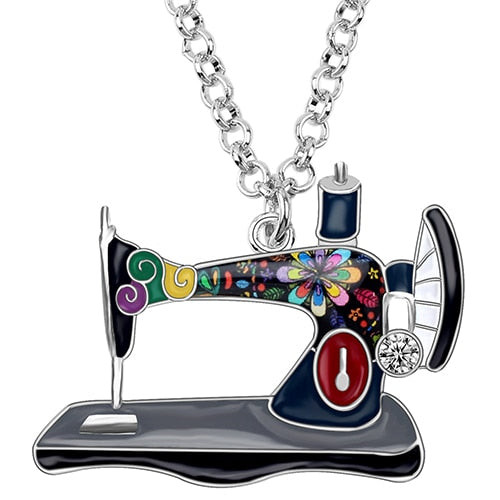Sewing Machine Necklace - Adorable Click