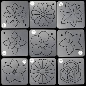 SET of Stencils for Quilting - Adorable Click