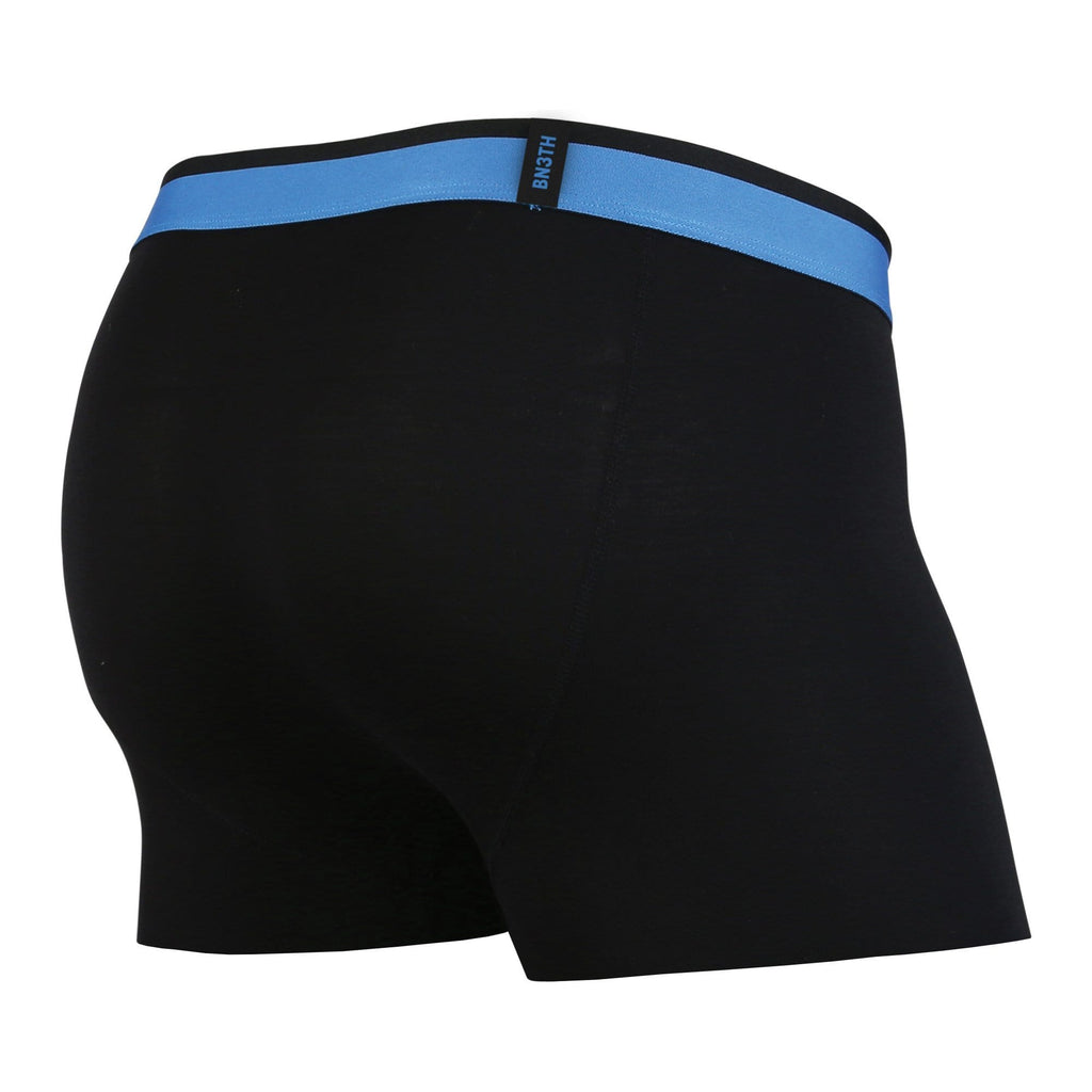 MENS CLASSIC TRUNKS / HIPSTERS: BLACK/BLUE