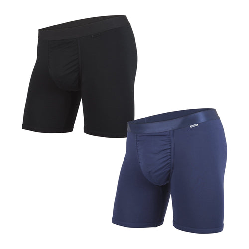 MENS CLASSIC BOXER BRIEF 2-PACK: BLACK/NAVY