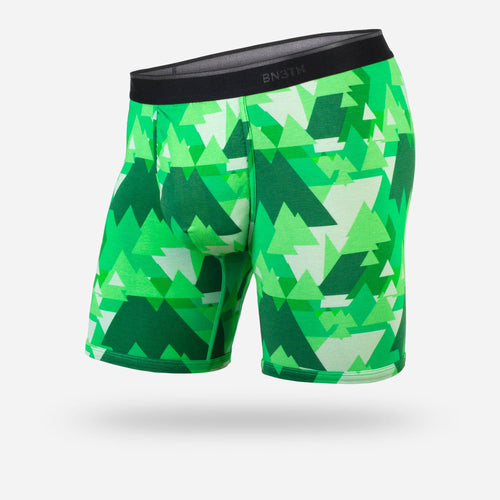MENS CLASSIC BOXER BRIEF: GEOTREES GREEN