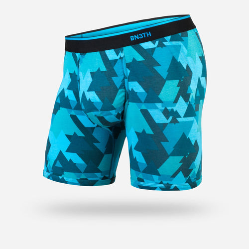 MENS CLASSIC BOXER BRIEF: GEOTREES TEAL