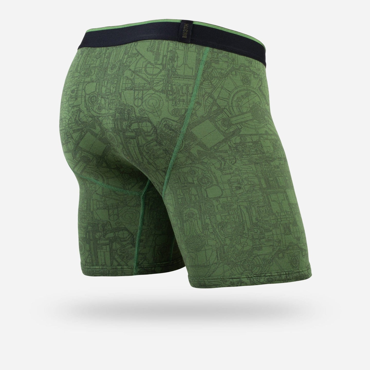 MENS CLASSIC BOXER BRIEF: MECHANICS GREEN