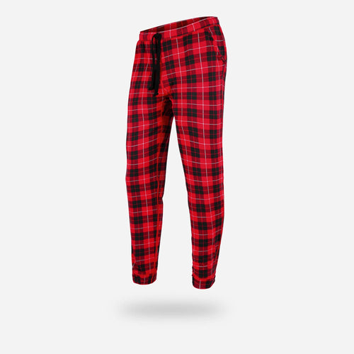 PJ LONG LOUNGE PANTS : FIRESIDE PLAID RED