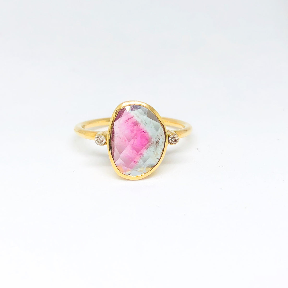 Watermelon with diamond ring