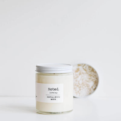 Noted candles 8oz