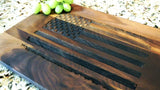 "American Flag Patriotic Engraved Walnut Cutting Board (11"" x 16"")"