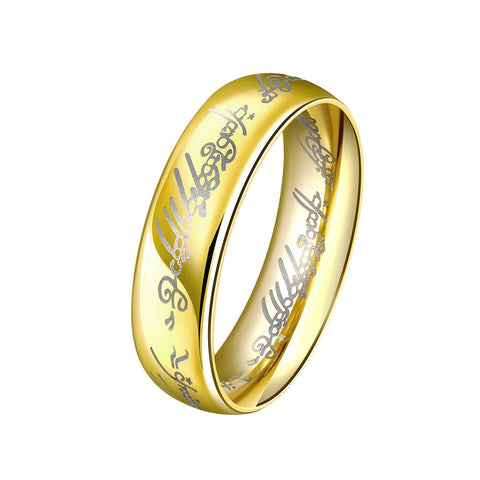 Father's Day Gift Lord of The Rings Men's Ring in 14K Gold Plated