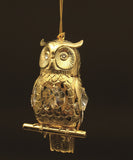 24K gold plated owl with Swarovski crystal element