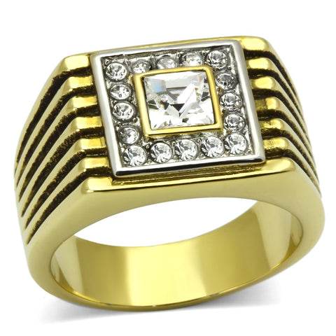 Men Stainless Steel Synthetic Crystal Rings TK750
