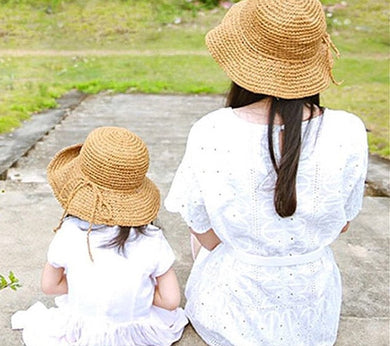 Handmade Mother/Daughter Weave Straw Hat
