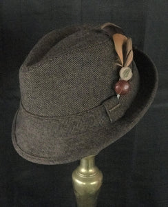 Brown Tweed Stetson Trilby