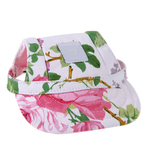 Cute Floral Dog Hat
