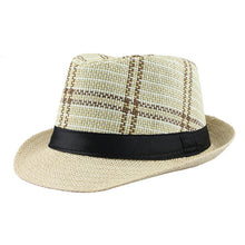 Fashion Summer Fedora with Woven Print