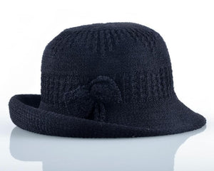Solid Bow-knot Sun Hat
