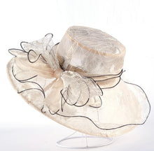 Elegant Ladies Organza Bow-Knot Party Hat