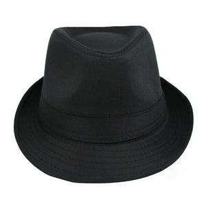 Classic Black Pinched Crown Fedora